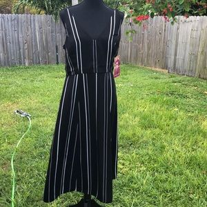 Emerald Sundae size 13 pinstripes dress sleeveless
